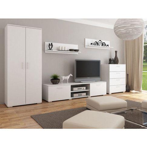 Zdjęcie produktu Meblościanka Doreno 2X - biała.
