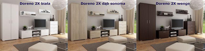 Nowoczesne meblościanki Doreno 2X - do salonu