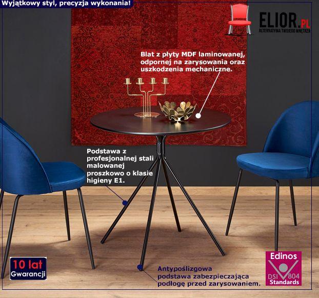 Modny stolik Enno - czarny