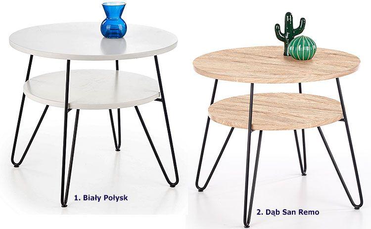 Okrągły stolik kawowy do salonu Naomi
