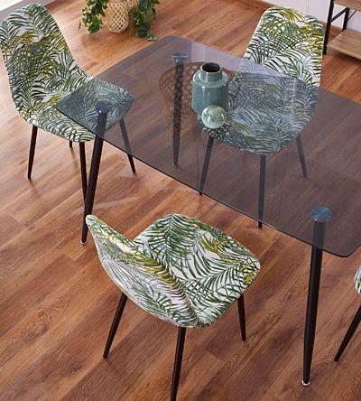 Elegancki stół Faleo - dymiony