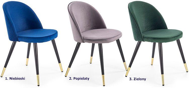 Nowoczesne krzesło tapicerowane Noxin