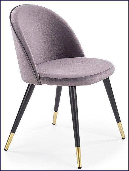Popielate krzesło do jadalni, salonu Noxin