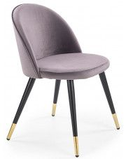 Krzesło tapicerowane Noxin - popielate