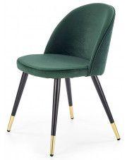 Krzesło tapicerowane Noxin - zielone