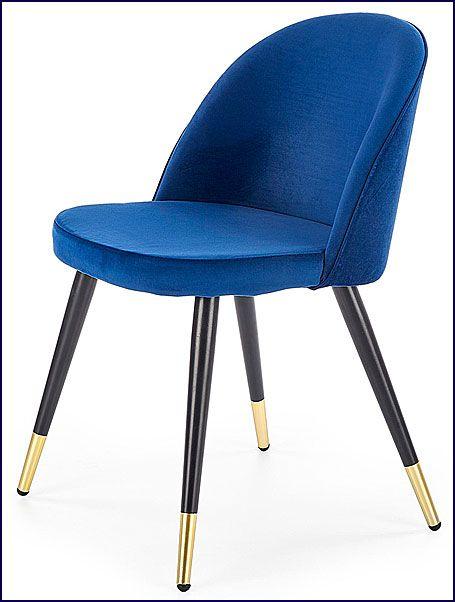 Granatowe krzesło do kuchni, jadalni Noxin