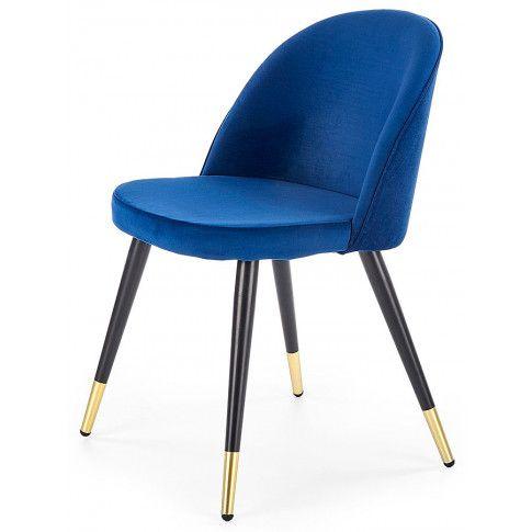 Zdjęcie produktu Krzesło tapicerowane Noxin - niebieskie.