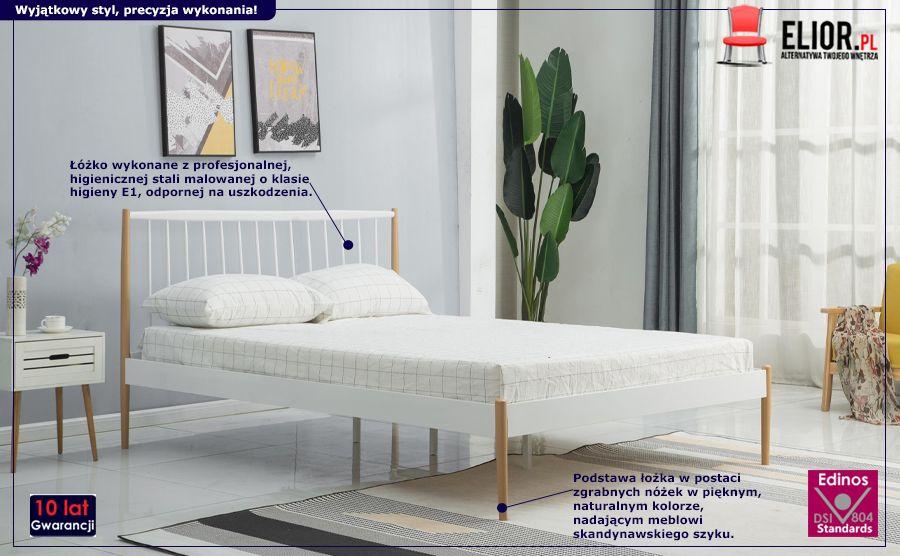 Skandynawskie łożko Mavio - białe