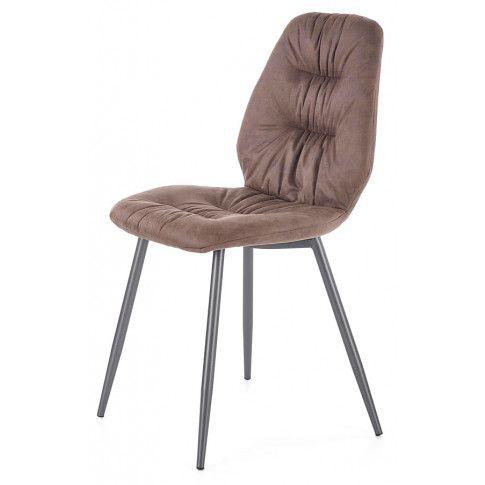 Zdjęcie produktu Krzesło tapicerowane Dorian - brązowe.