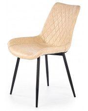 Krzesło pikowane Rikon - beżowe w sklepie Edinos.pl
