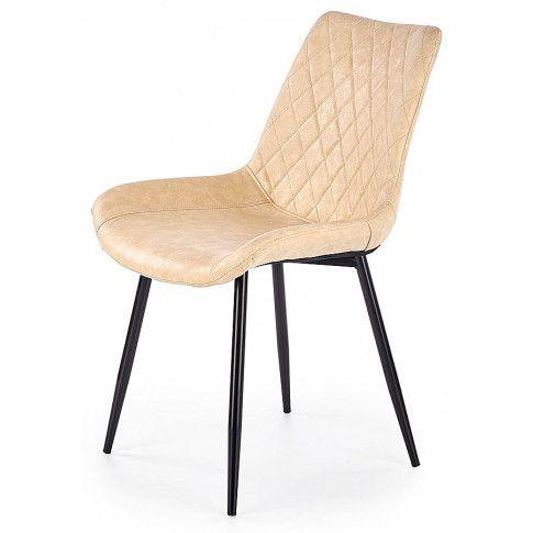 Zdjęcie produktu Krzesło pikowane Rikon - beżowe.