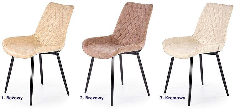 Pikowane krzesło kuchenne Rikon