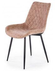 Krzesło pikowane Rikon - brązowe w sklepie Edinos.pl