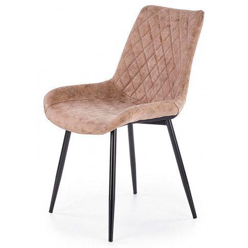 Zdjęcie produktu Krzesło pikowane Rikon - brązowe.
