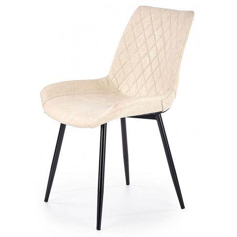Zdjęcie produktu Krzesło pikowane Rikon - kremowe.