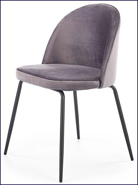 Popielate krzesło do jadalni, salonu Anvar