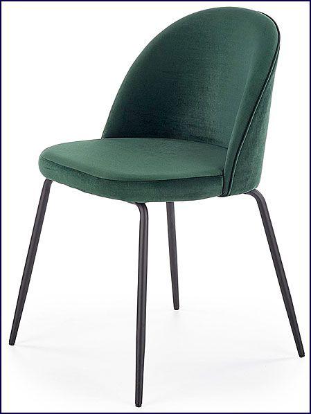 Zielone krzesło do kuchni, salonu, jadalni Anvar