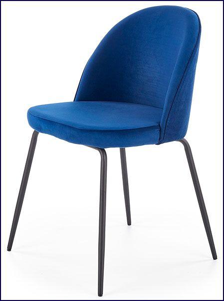 Granatowe krzesło kuchenne do stołu Anvar