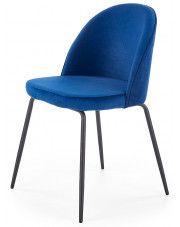 Krzesło tapicerowane Anvar - granatowe