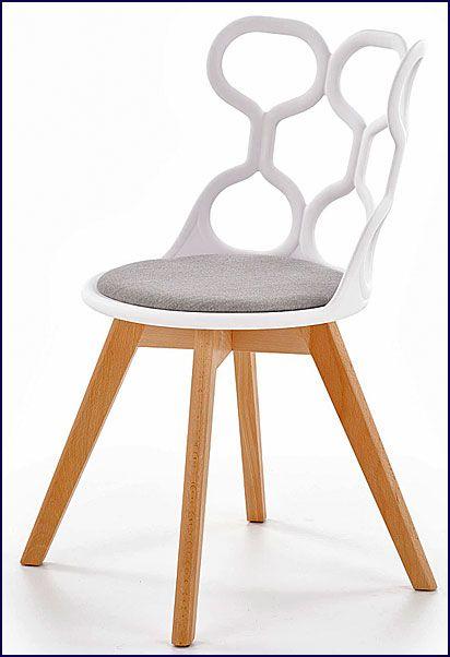 Drewniane białe krzesło skandynawskie Carter