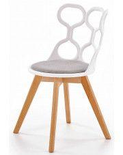 Krzesło skandynawskie Carter - białe w sklepie Edinos.pl