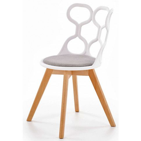 Zdjęcie produktu Krzesło skandynawskie Carter - białe.