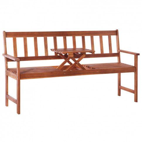 Zdjęcie produktu Ławka ogrodowa ze stolikiem Tena - 158 cm.