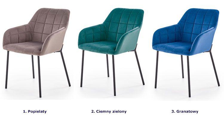 Zielone krzesło z podłokietnikami Zeppen sklep Edinos.pl
