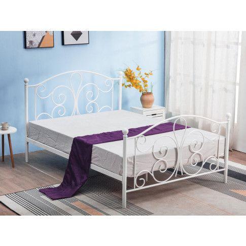 Zdjęcie produktu Łóżko do sypialni 120x200 cm Lafio - białe.