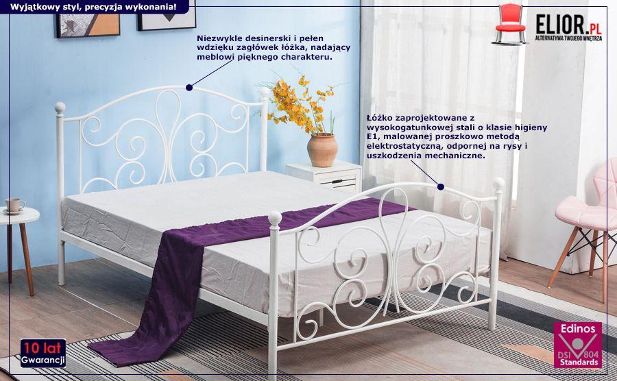 Białe łóżko Lafio - skandynawskie