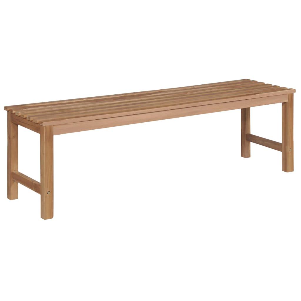 Ławka ogrodowa Berta bez oparcia drewniana minimalistyczna