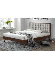 Łóżko Auston 160x200 cm - beż + orzech w sklepie Edinos.pl