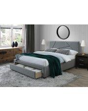 Łóżko Dubio 160x200 cm - szare w sklepie Edinos.pl