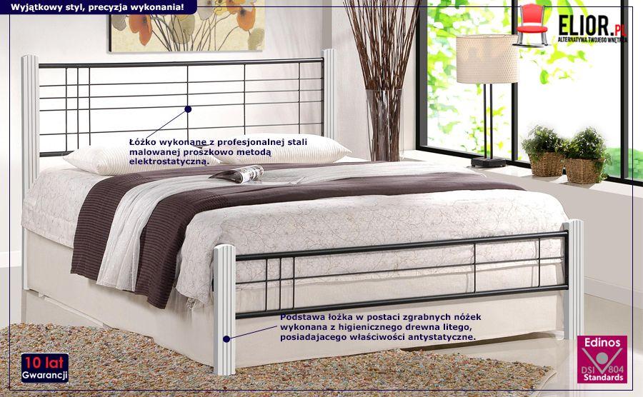 Nowoczesne łóżko Mikeo - stylowe