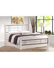Łóżko Mikeo 120x200 cm - biały + czarny