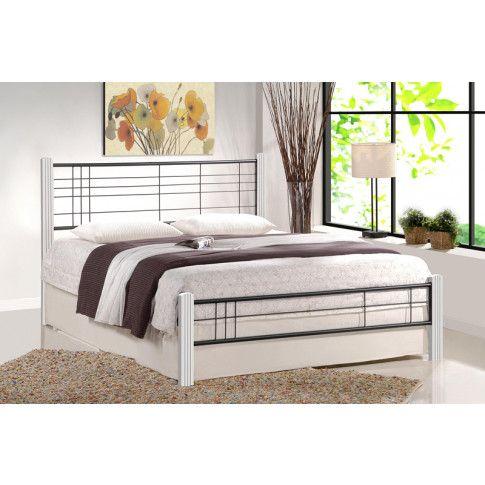 Zdjęcie produktu Jednoosobowe łóżko Mikeo 120x200 cm - biały + czarny.
