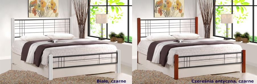 Industrialne łóżka Mikeo - modne