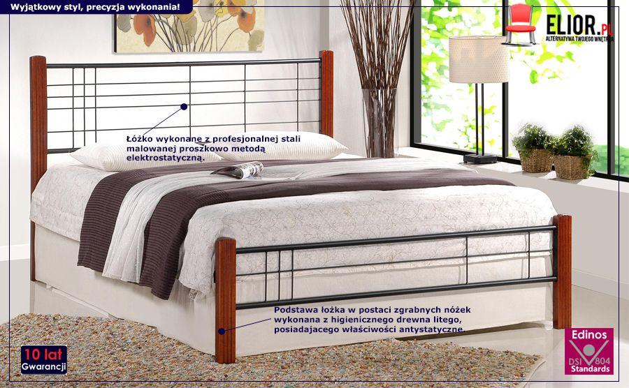 Piękne łóżko Mikeo - czereśnia antyczna