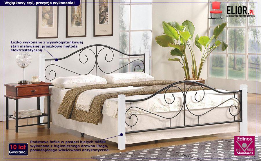 Gustowne łóżko Eline - białe