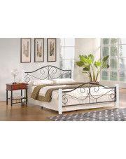 Łóżko Eline 140x200 cm - biały + czarny