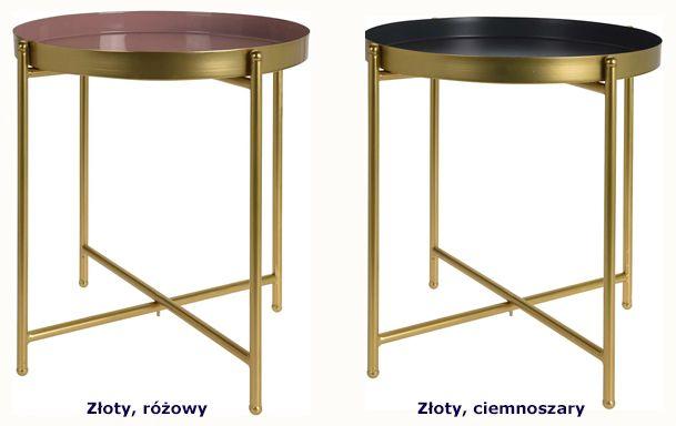 Minimalistyczny stolik Glami - złoty