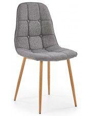 Krzesło pikowane Skamer - popielate