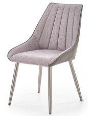 Krzesło tapicerowane Voltan - popielate