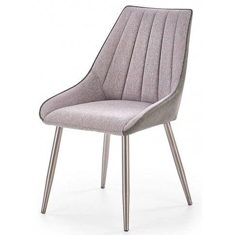 Zdjęcie produktu Krzesło tapicerowane Voltan - popielate.