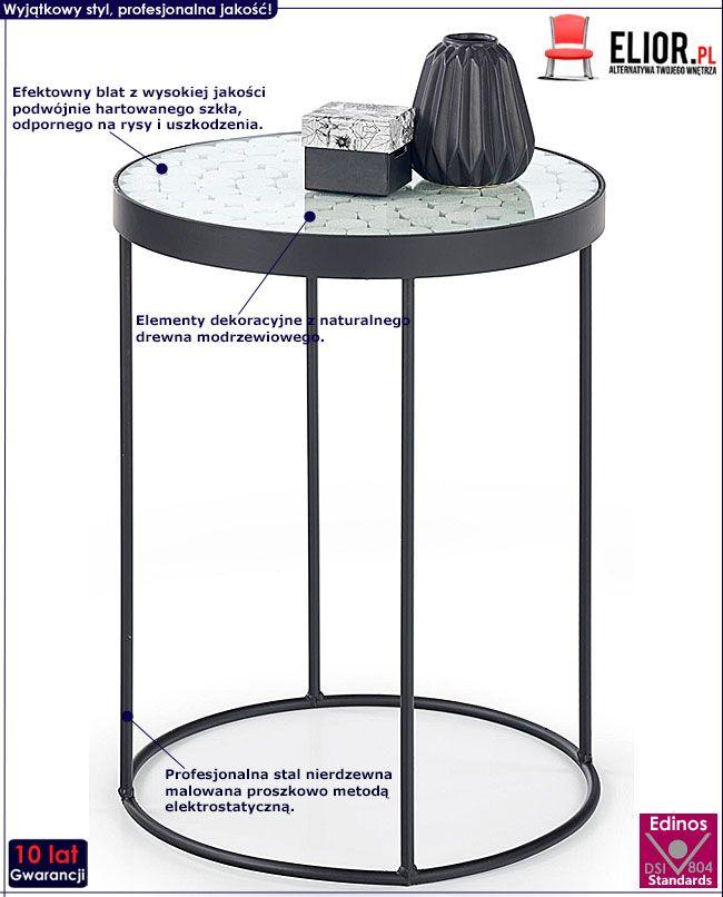 Wysoki okrągły stolik kawowy do salonu Turia 4X