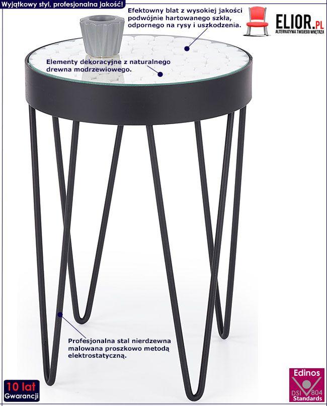 Okrągły wysoki stolik kawowy do salonu Turia 5X