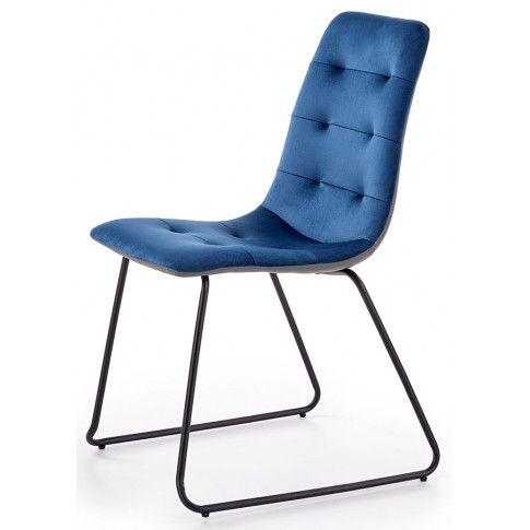 Zdjęcie produktu Krzesło pikowane Hider - granatowe.