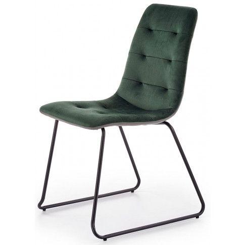 Zdjęcie produktu Krzesło pikowane Hider - zielone.