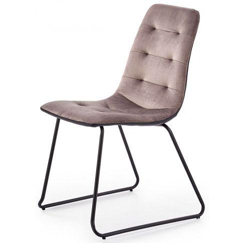 Zdjęcie produktu Krzesło pikowane Hider - popielate.