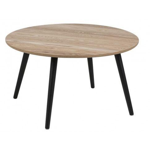 Zdjęcie produktu Stolik kawowy Darel - drewniany + czarny.